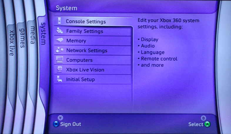 The Console Settings And