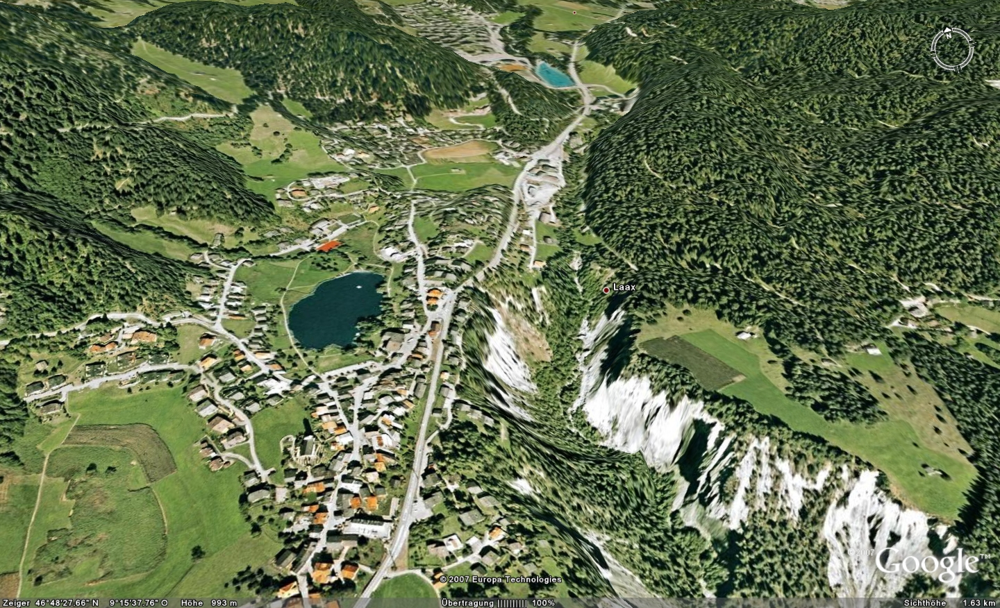 Google earth and google maps with higher resolution for switzerland google earth laaxsmallg gumiabroncs Gallery